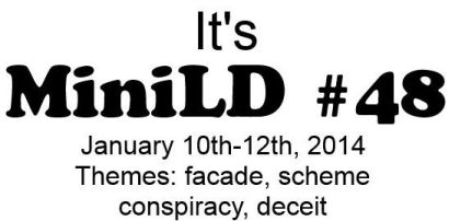 New game jam game (miniLD). Theme: deceit.